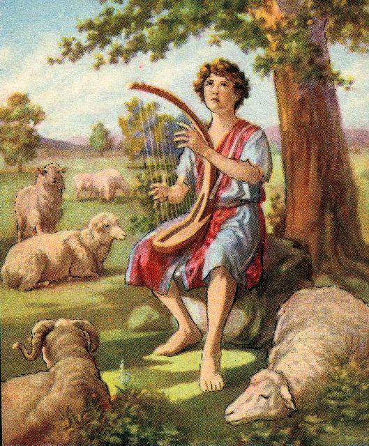 David the shepherd boy (Jesse tree day 15) | David bible, Bible stories for  kids, Bible pictures