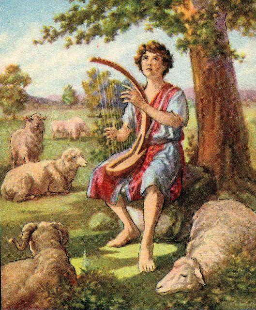 David the shepherd boy (Jesse tree day 15) | David bible, Bible stories for  kids, Bible pictures