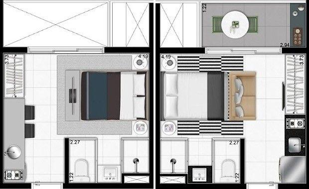 Um ap inteiro em 19 m house design house plans casas for Decoracion de casas brasilenas