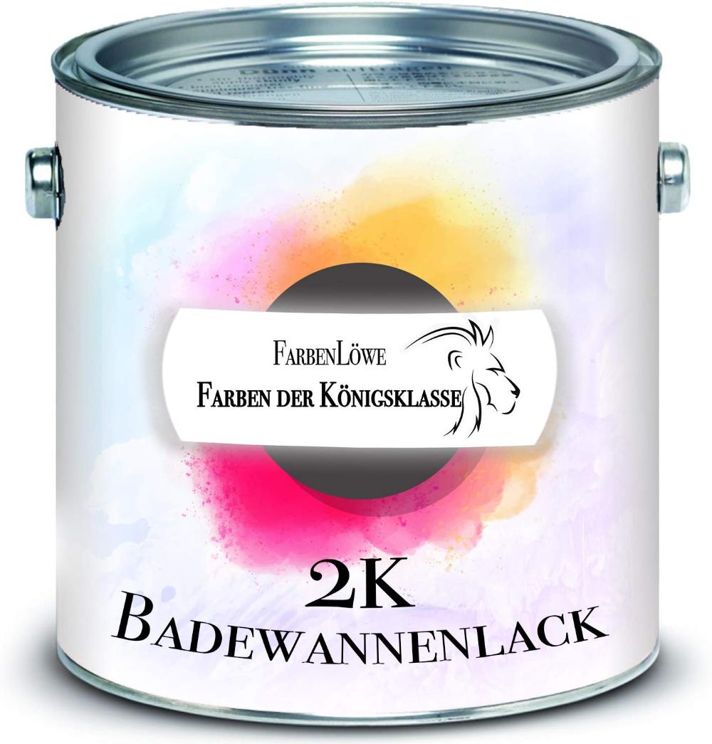 Farbenlowe 2k Badewannenbeschichtung Made In Germany Badewannenlack Fur Keramik Emaille Acryl Fliesen Badewanne Porze Fliesenlack Badewannenlack Cremeweiss