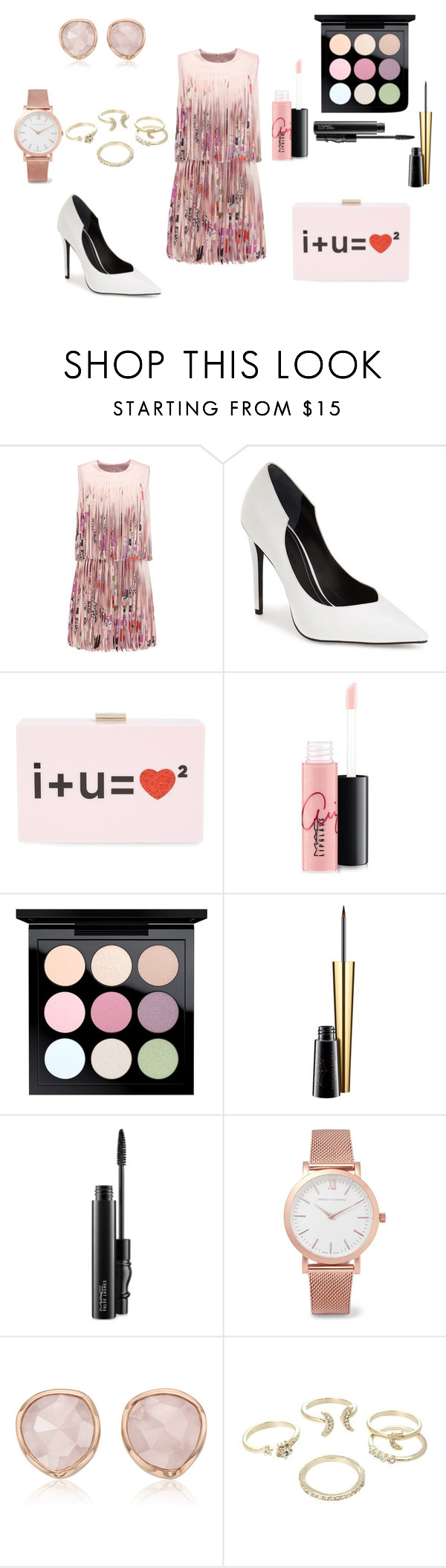"""""""Sin título #127"""" by sylvia-aylin on Polyvore featuring moda, Alexis, Kendall + Kylie, Kate Spade, MAC Cosmetics, Larsson & Jennings, Monica Vinader y Lipsy"""