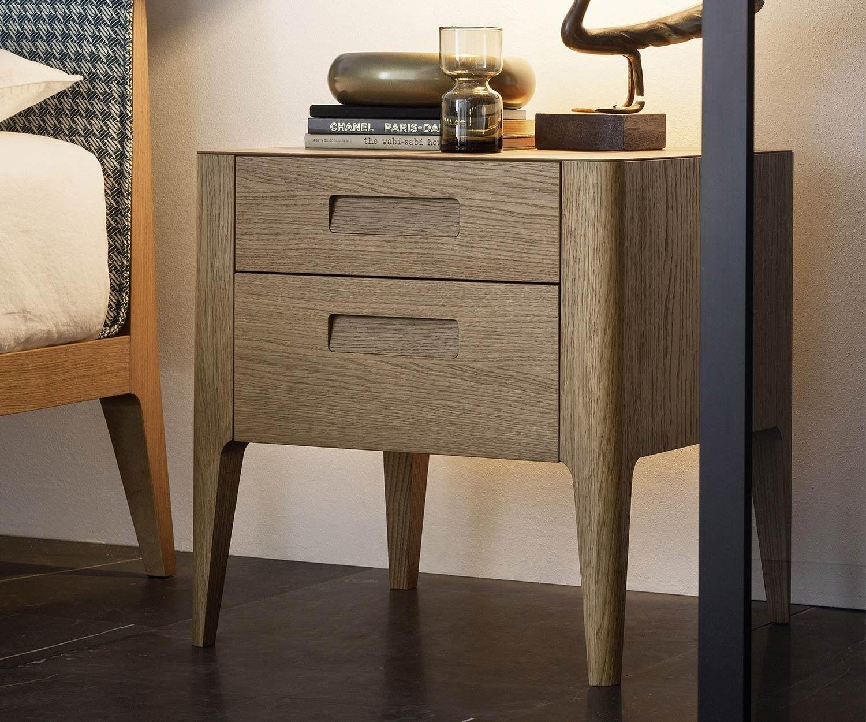 Novamobili Nachttisch Giotto 2 Schubladen In 2020 Art Deco Mobel Nachttisch Und Japanische Mobel