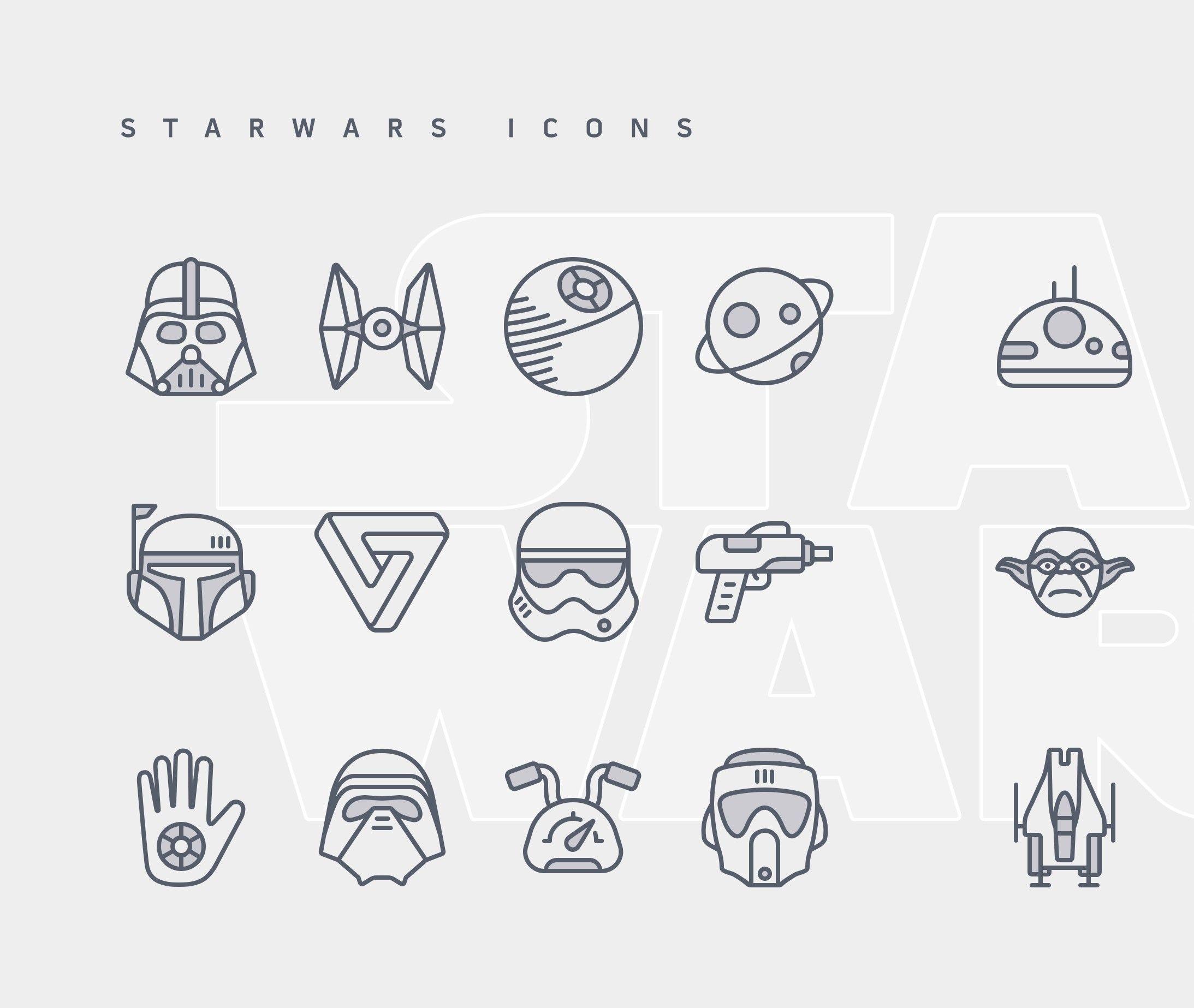 Starwars Free Icon Set Star wars stencil, Star wars