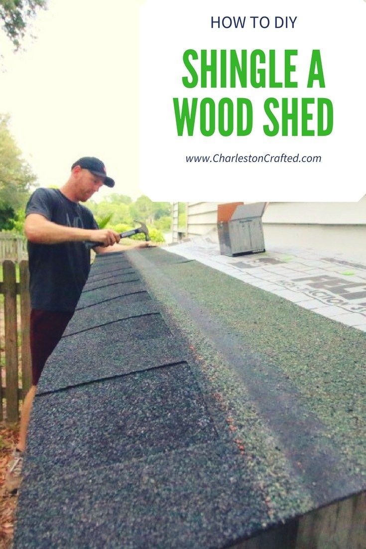 How To Diy Shingle A Wood Shed Roof Shed Roof Wood Shed Shed