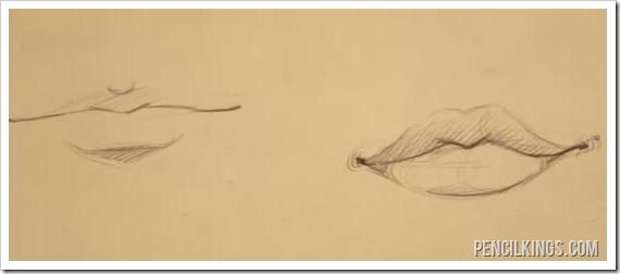 Male And De Male Lios Difference Lips Sketch Drawings Guy Drawing