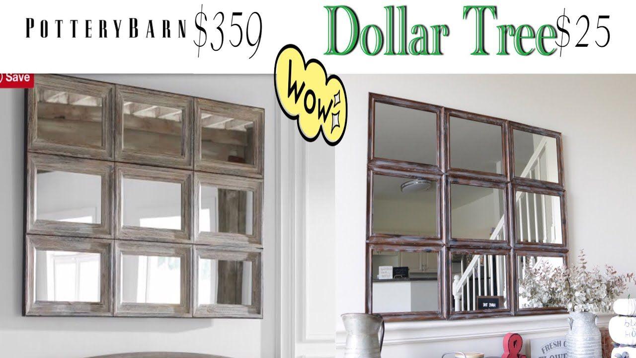 Dollar tree diy pottery barn dupe mirror youtube