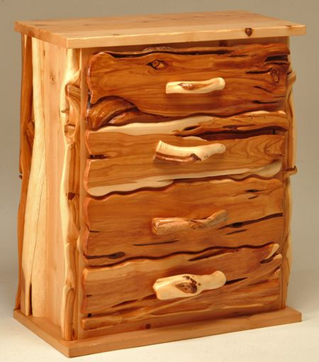 Chest Of Drawers, Natural Wood Chest, Log Cabin Furniture