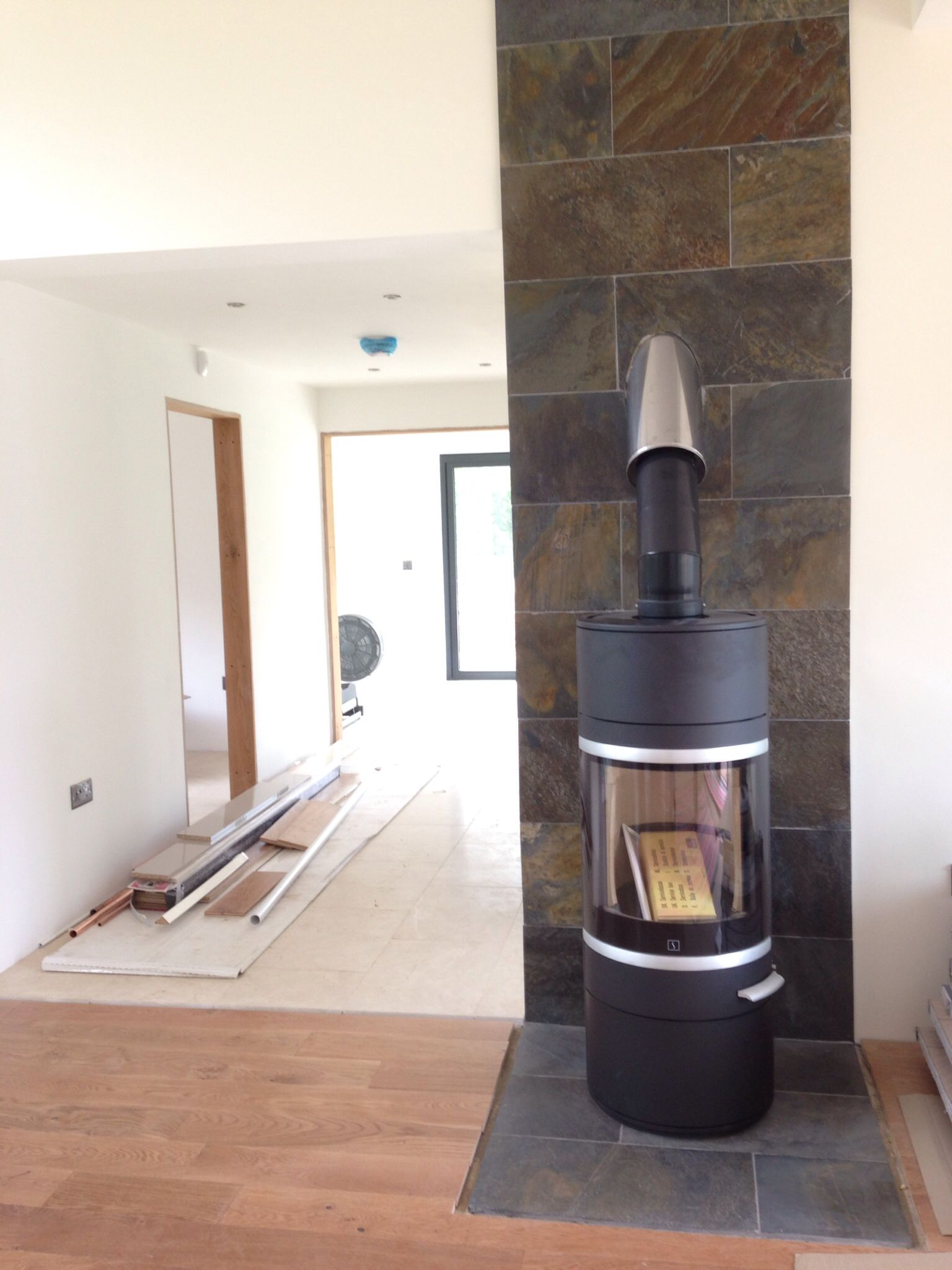 Kaminofen Caminos Montana Scan 83 Wood Stove Just Installed Into Sipp House With Feature