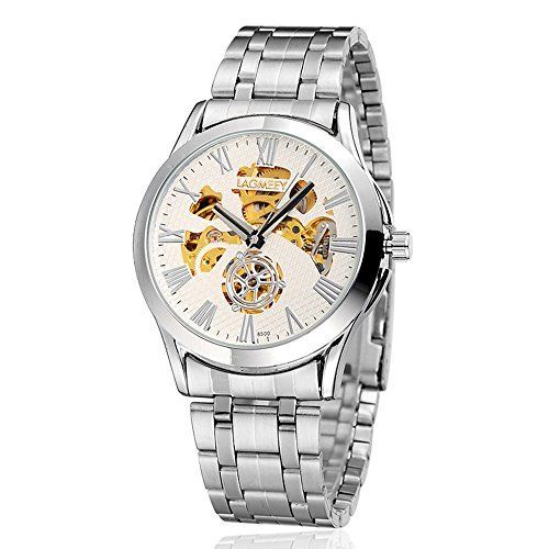 $11.04 (52% Off) on LootHoot.com - New Luxury Gold Skeleton Automatic Mechanical…