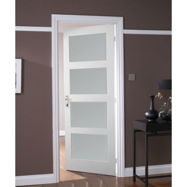 White Shaker 5 Panel Interior Door Glass Google Search Doors Interior Bathroom Design Staircase Makeover
