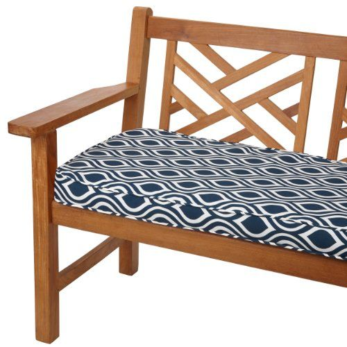 Mozaic Sabrina Corded Indooroutdoor Bench Cushion 48inch Wavy Navy Stripe Want To Know More Outdoor Cushions And Pillows Bench Cushions Patio Furniture Deals 48 inch bench cushion indoor