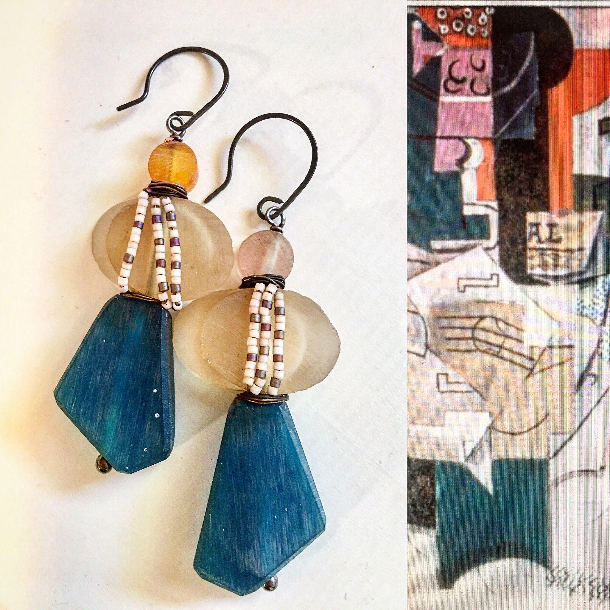 Art Bead Scene May Challenge Www Loraleekolton Etsy Com Handmade Indonesian Resin Beads Headpins And Earw Jewelry Inspiration