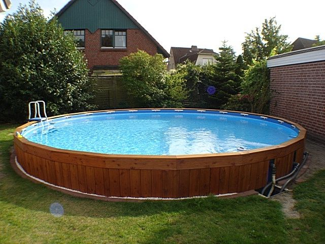 Intex pool eingegraben garten pinterest for Pool im boden