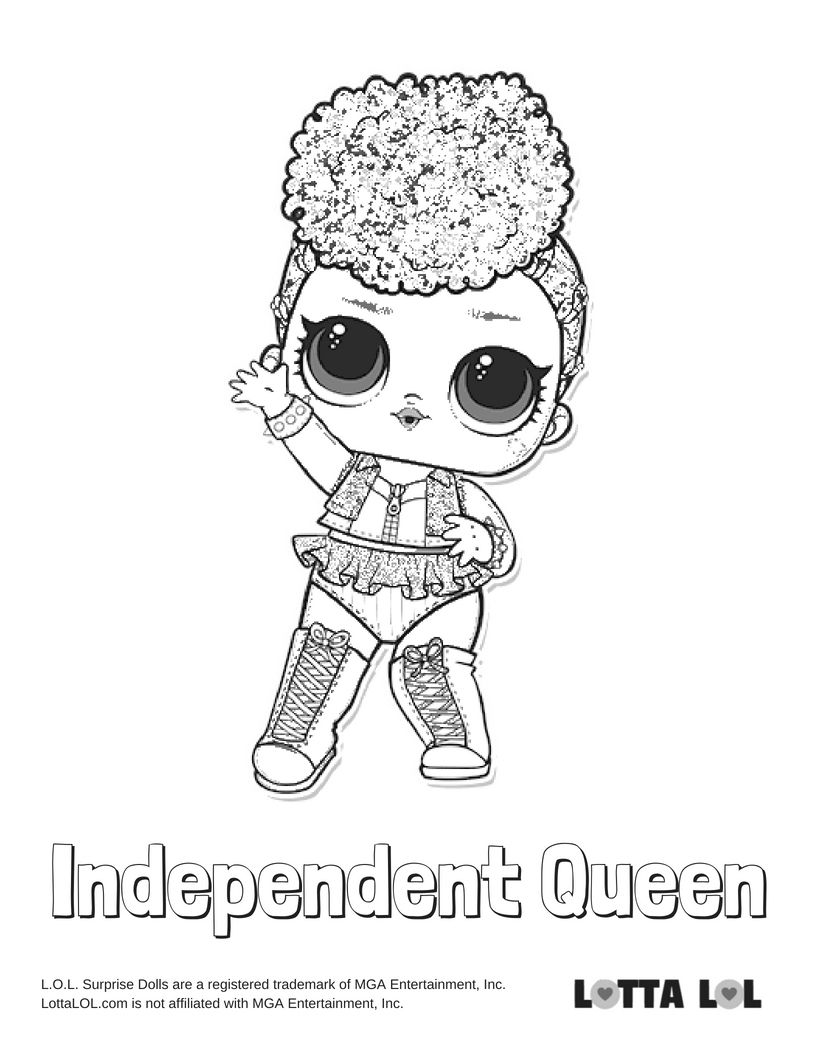 Independent Queen Coloring Page Lotta Lol Lol Dolls Coloring Pages Kids Coloring Books