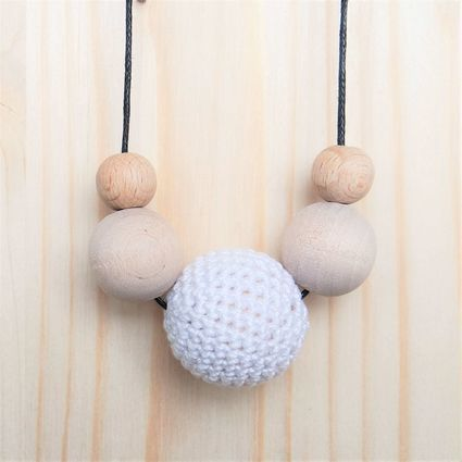 TRESURE: Viisikko-kaulakoru | Weecos #annieeleanoora #puutajapuuvillaa #viisikko #kaulakoru #woodandcotton #fivesome #necklace