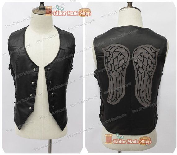 The Walking Dead Daryl Dixon Cosplay Black Vest Things I Want - walking dead halloween costume ideas