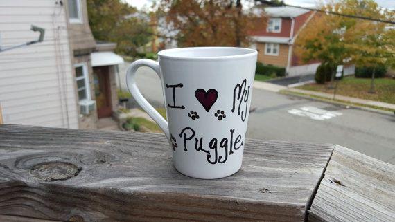 I Love My Puggle coffee mug - Puggle - puggles - I Love My Dog - Animal Rescue - pug - beagle - Dog Mom - Birthday gifts - dog gifts