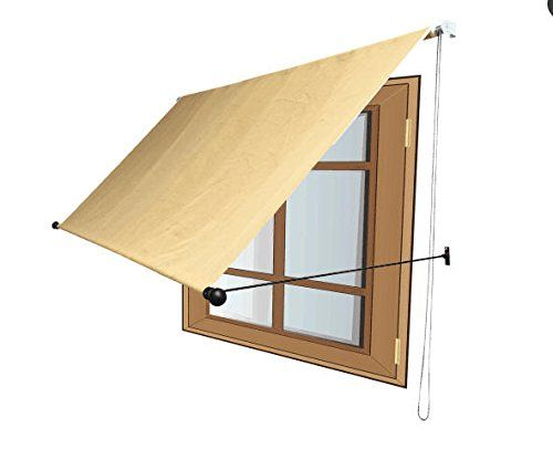 Awnings Traditional Wheat Never Fade Window Awning With Drop Arm Manual Retractable And New Advanced