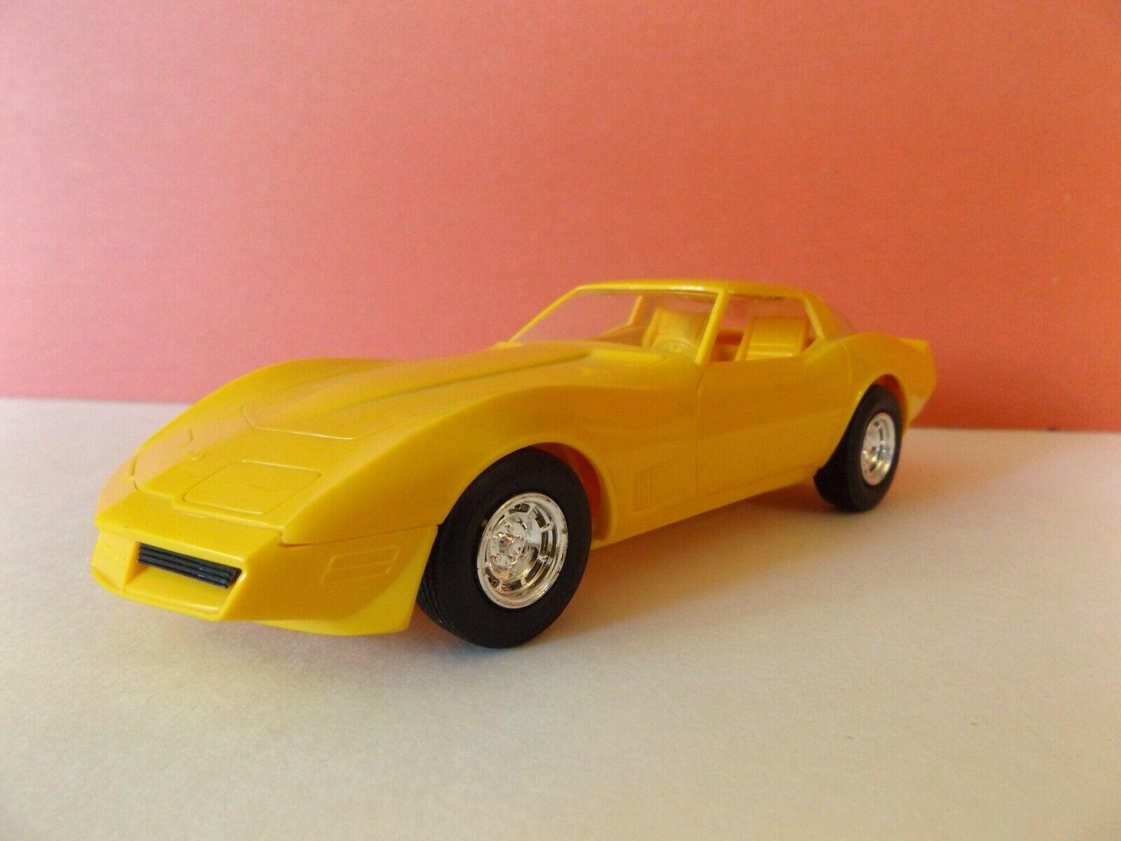 Vintage Dealer Promo 1980 Chevrolet Corvette Stingray Yellow