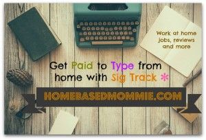 Work to work from home typing working your own schedule?  If so, give Sig Track a try.
