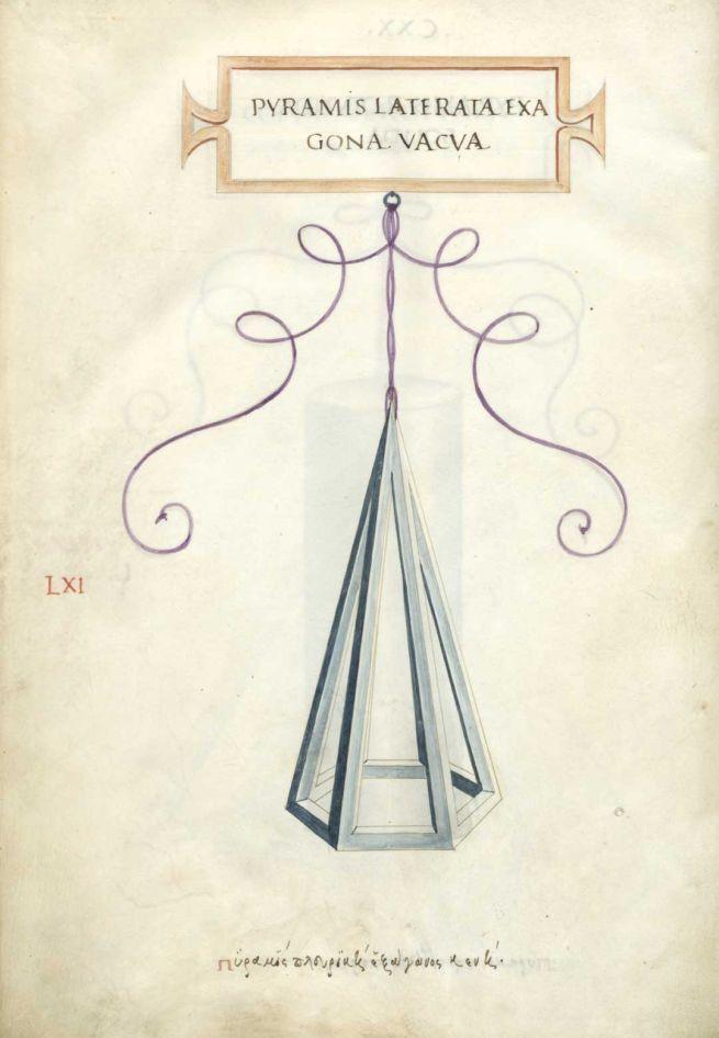 Pyramis Laterala Exagona Vacva Lxi Leonardo Da Vinci Tutorial Legatoria Sezione Aurea