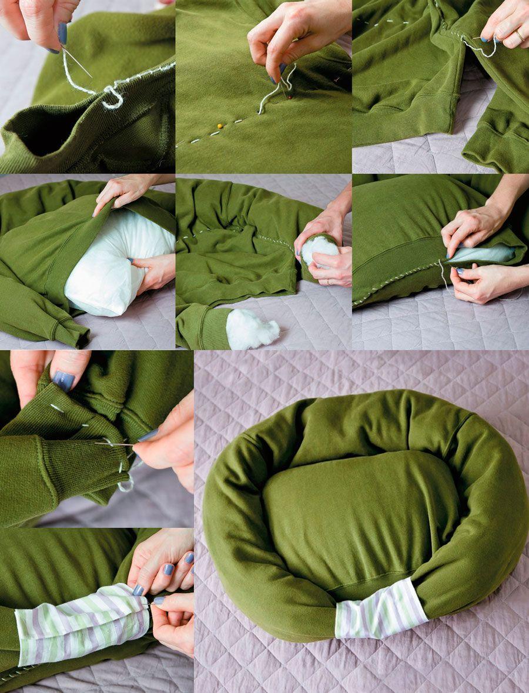 Cama para gatos con material reciclable buscar con - Como hacer una cama para perro ...
