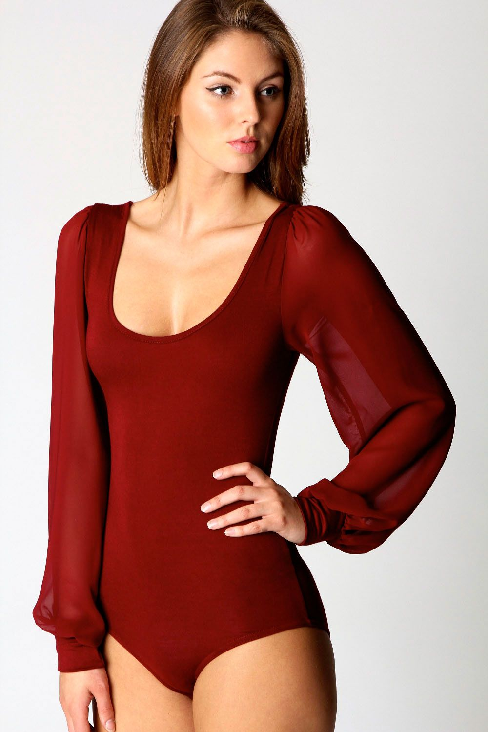 Details about Boohoo Womens Ladies Allie Chiffon Long ...