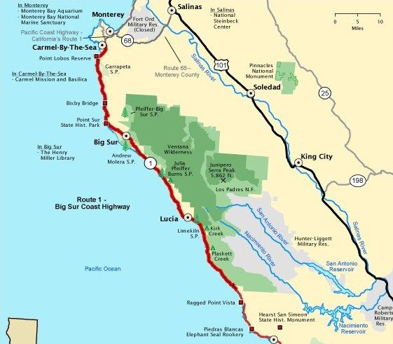 The Ultimate Guide To The Must See Attractions Along I 95: Driving California's Pacific Coast HighwayDriverAbroad.com