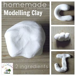 Molding Clay recipe - made with 2 ingredients