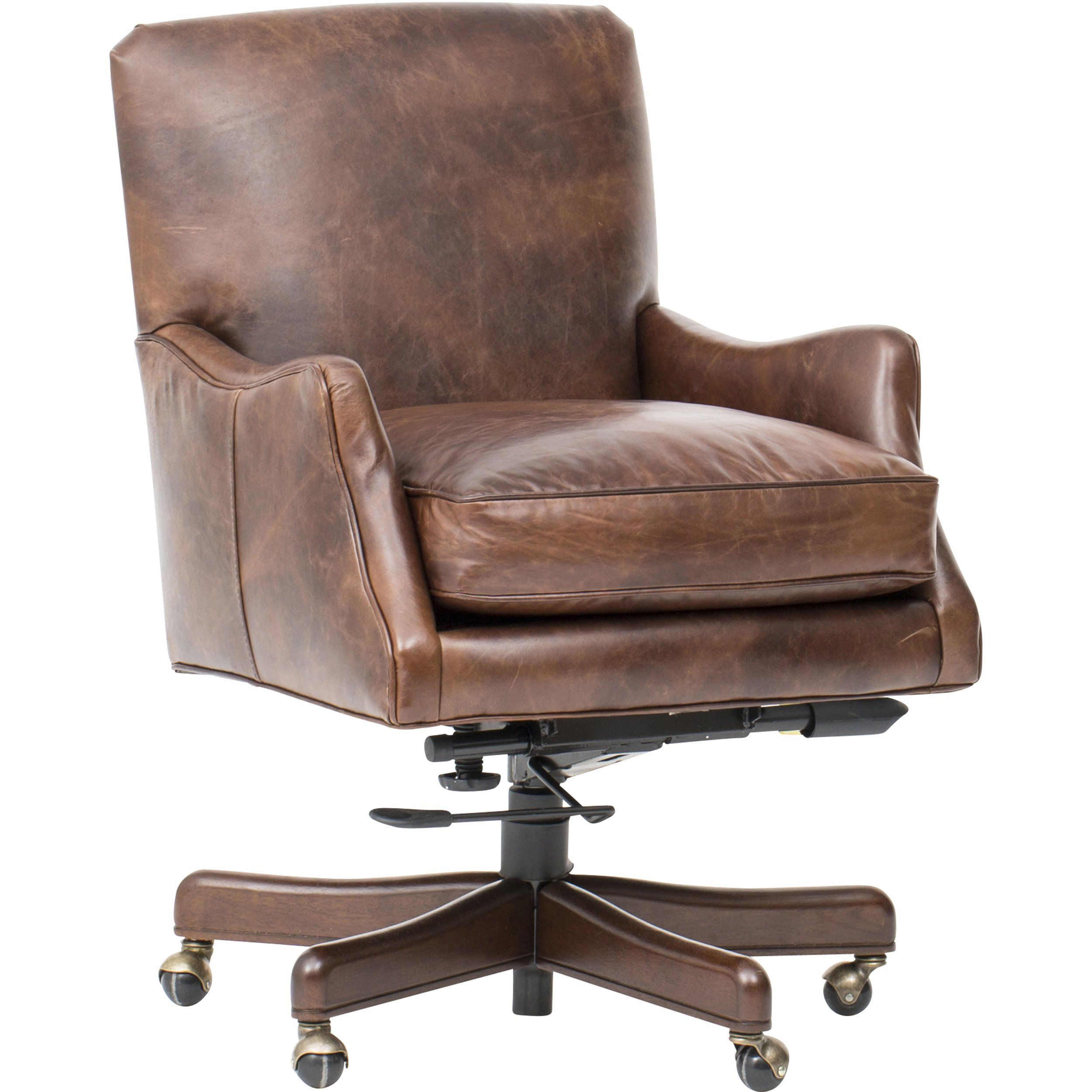 Imperial empire tilt swivel leather chair with images