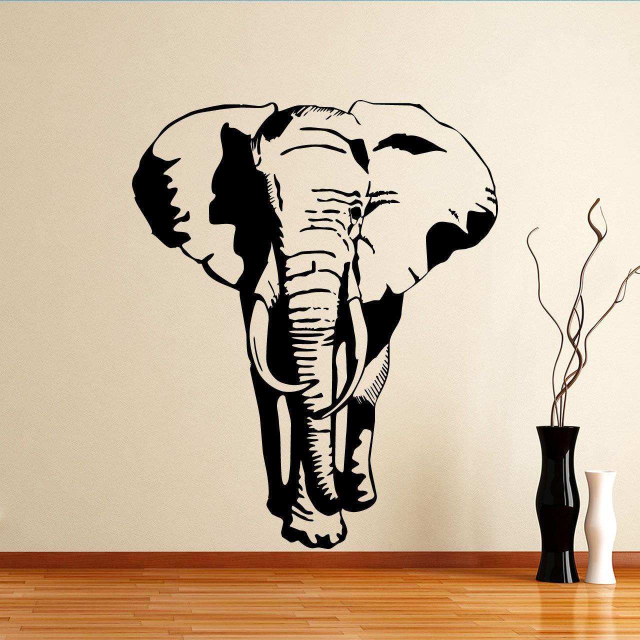 Quality Elephant Animal Wall Sticker Part 35