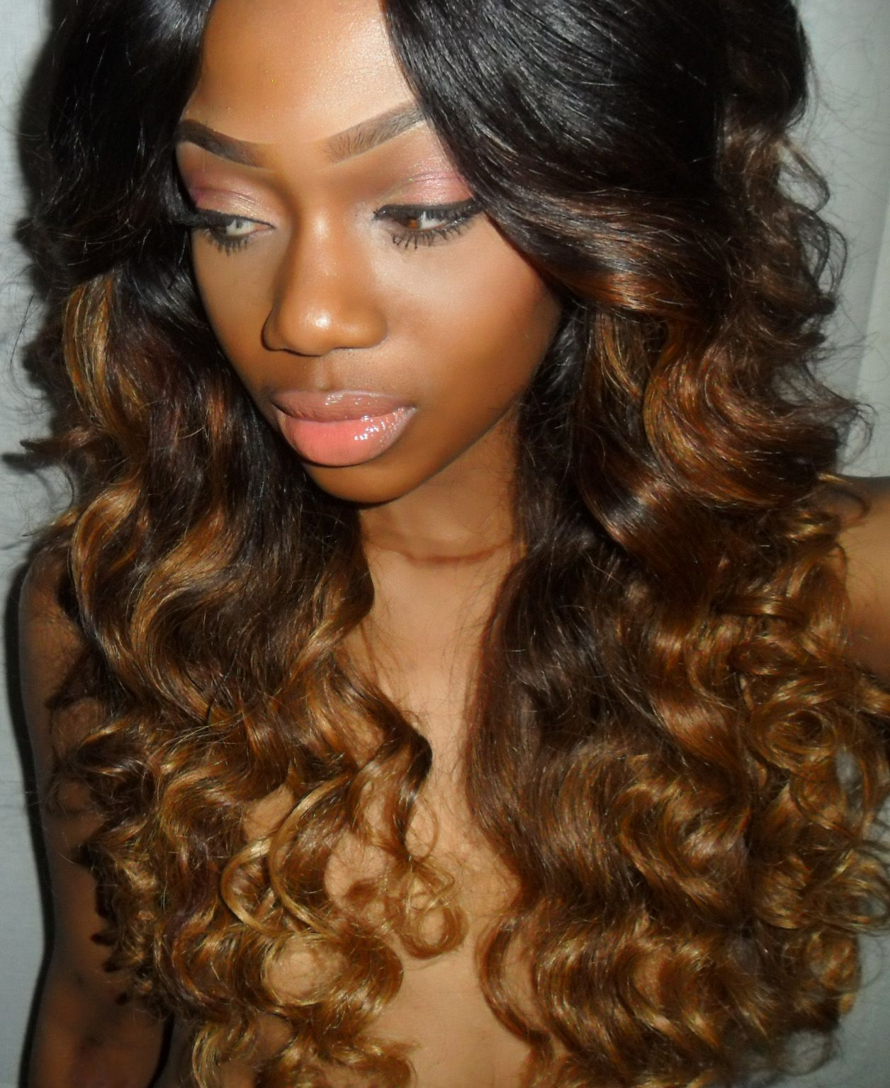 weave hairstyles | coverup by selorm: ombre hairstyle, dark