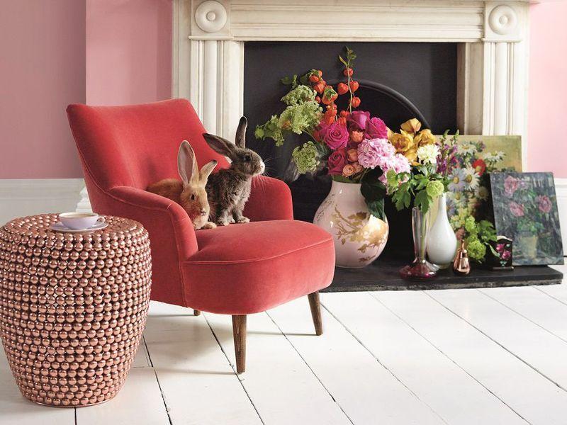 The Peggy Armchair In Dusty Rose Cotton Matt Velvet 570 Sofa