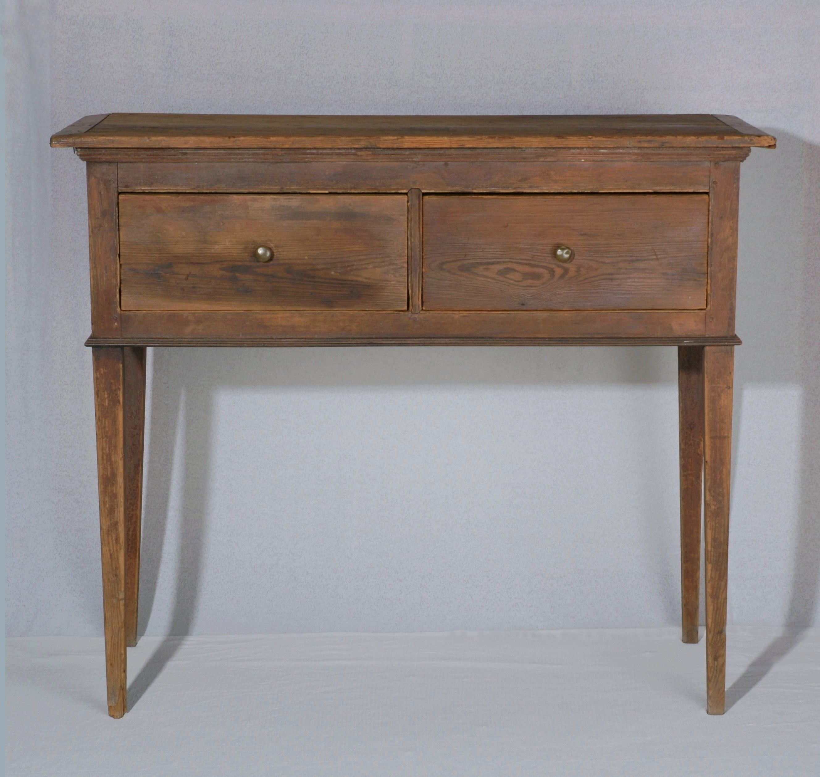 North Carolina Huntboard Yellow Pine With Brass Pulls Consiting Of Two Drawers Central North Carolina Ci Southern Furniture Carolina Furniture Nc Furniture