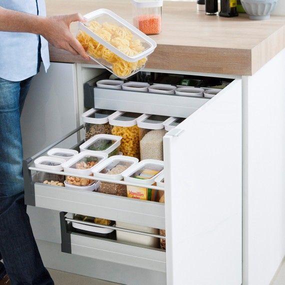 Boîte De Rangement Alimentaire Empilable En Plastique 22
