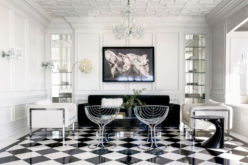 A Family Friendly Home Defined By 1970s Maximalism Dining Room Table Marble Living Room Windows County House