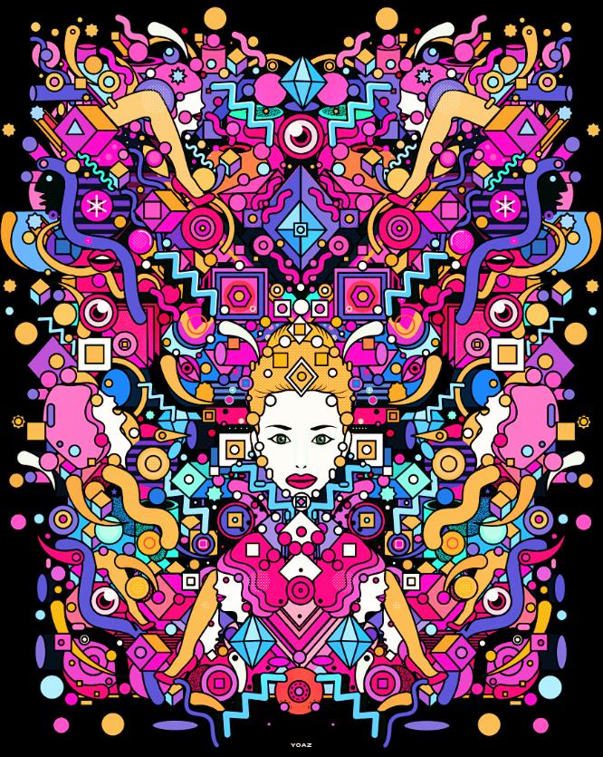 take a wild trippy acid trip through art by yoaz acid