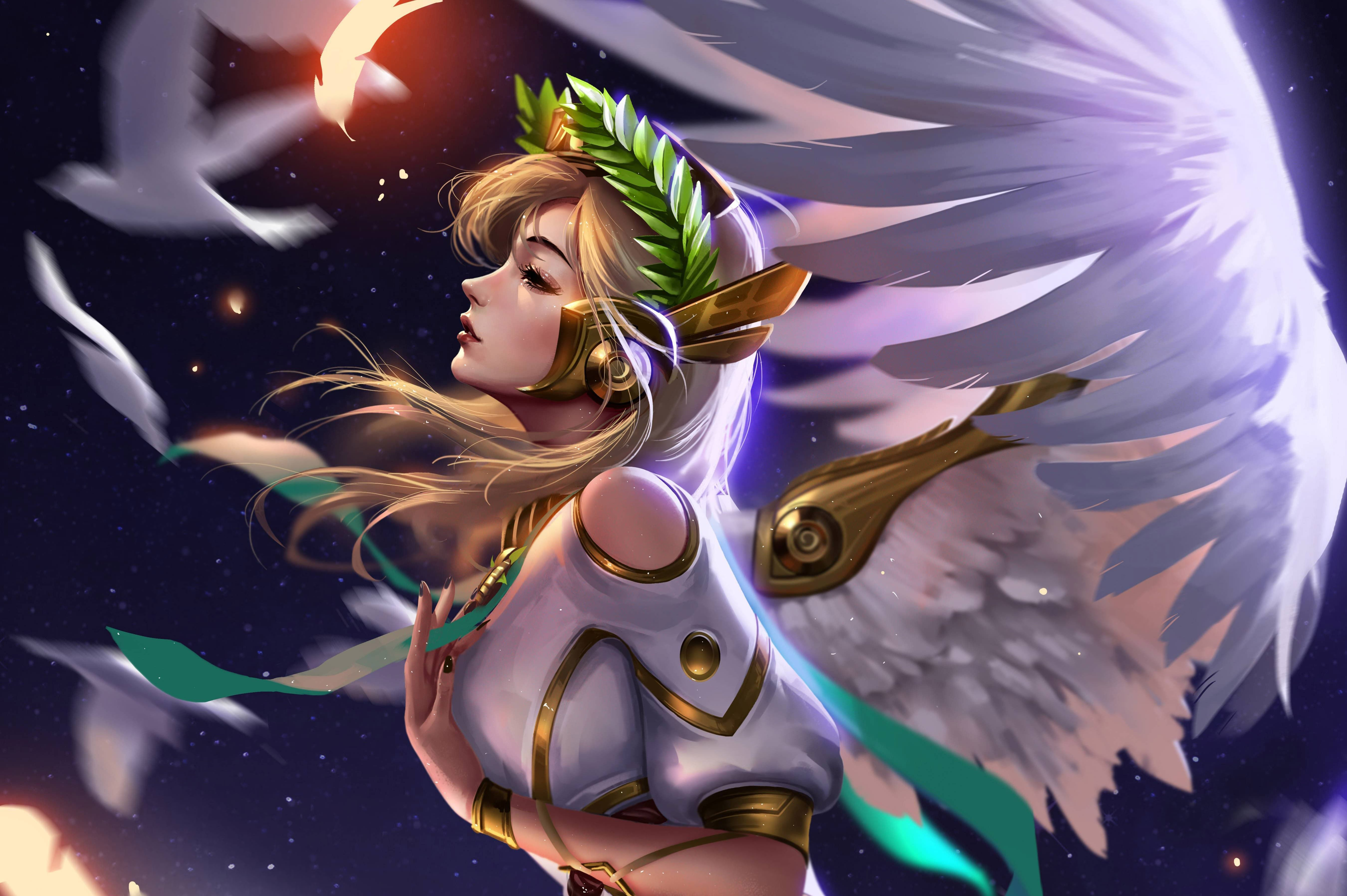 Mercy Overwatch 5k Best Artwork Mercy Overwatch 5k Best Artwork Is An Hd Desktop Wallpaper Posted In Our Free Image Collect Personnage Manga Personnages Jeux