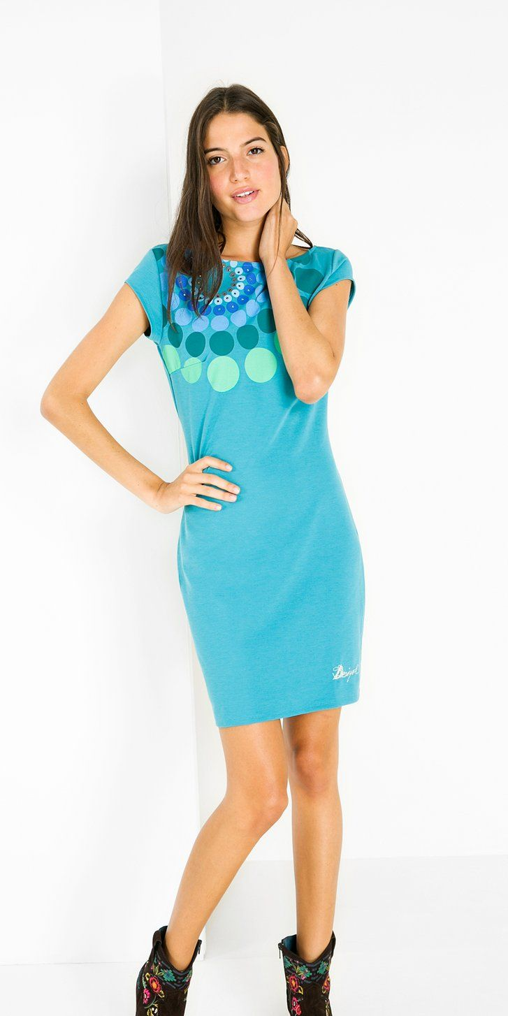 Turquoise Pinafore Dress Desigual Com Dresses Pinafore Dress Bodycon Dress [ 1454 x 727 Pixel ]