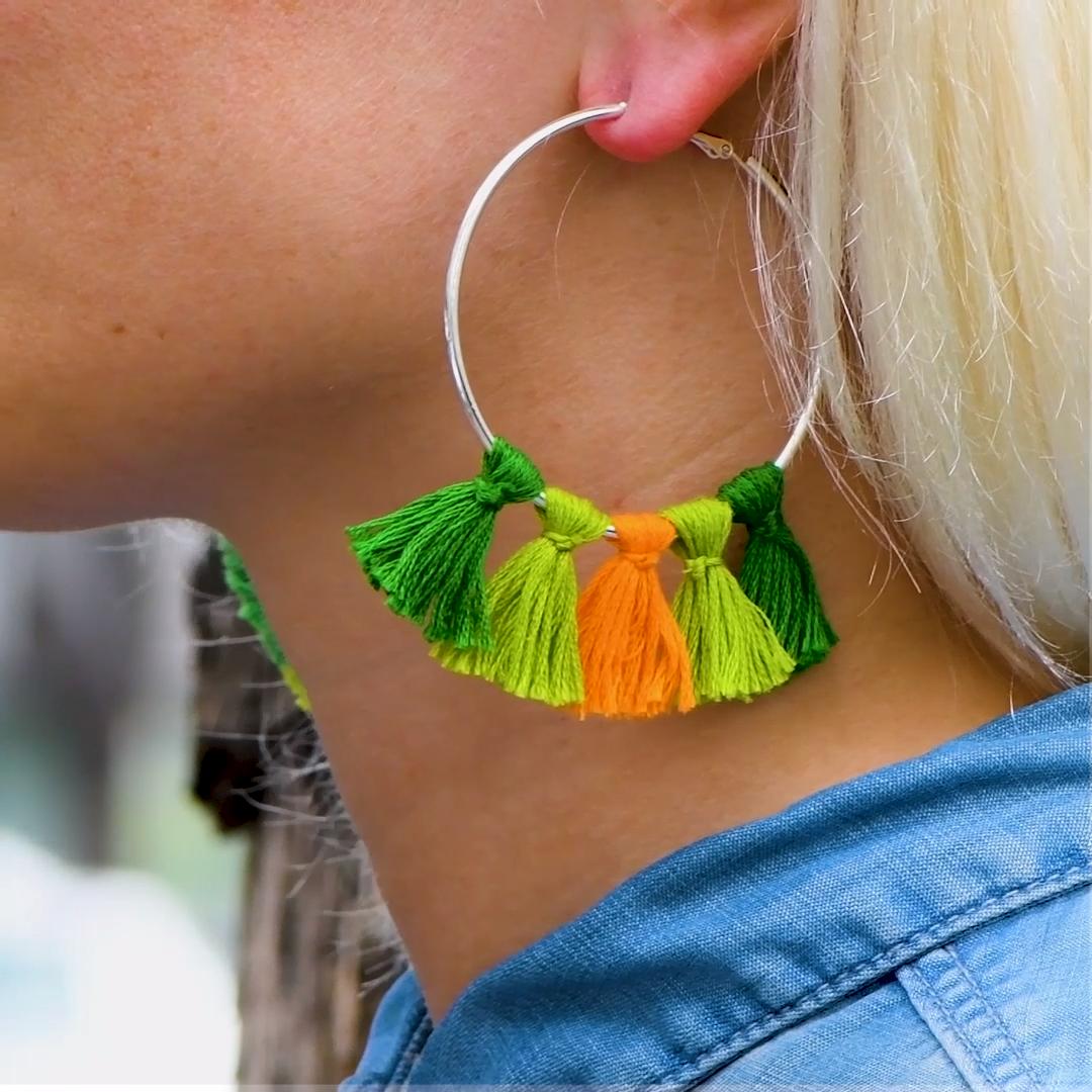 Photo of DIY Fringe Earrings