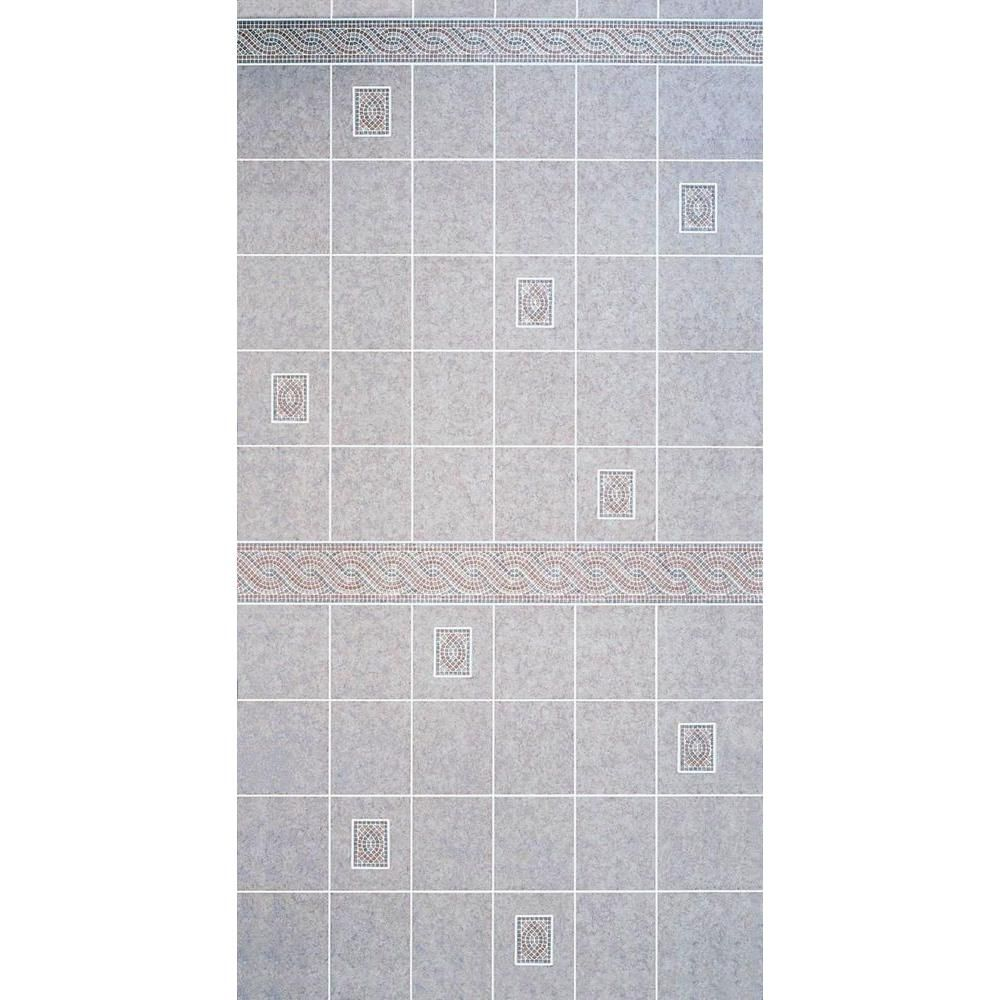 bathroom tile boards shop dpi aquatile 1 8 in x 4 ft x 8 ft alicante tile 11565
