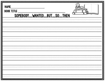 Somebody Wanted But So Then - Summarizing Worksheet | استراتيجيات ...