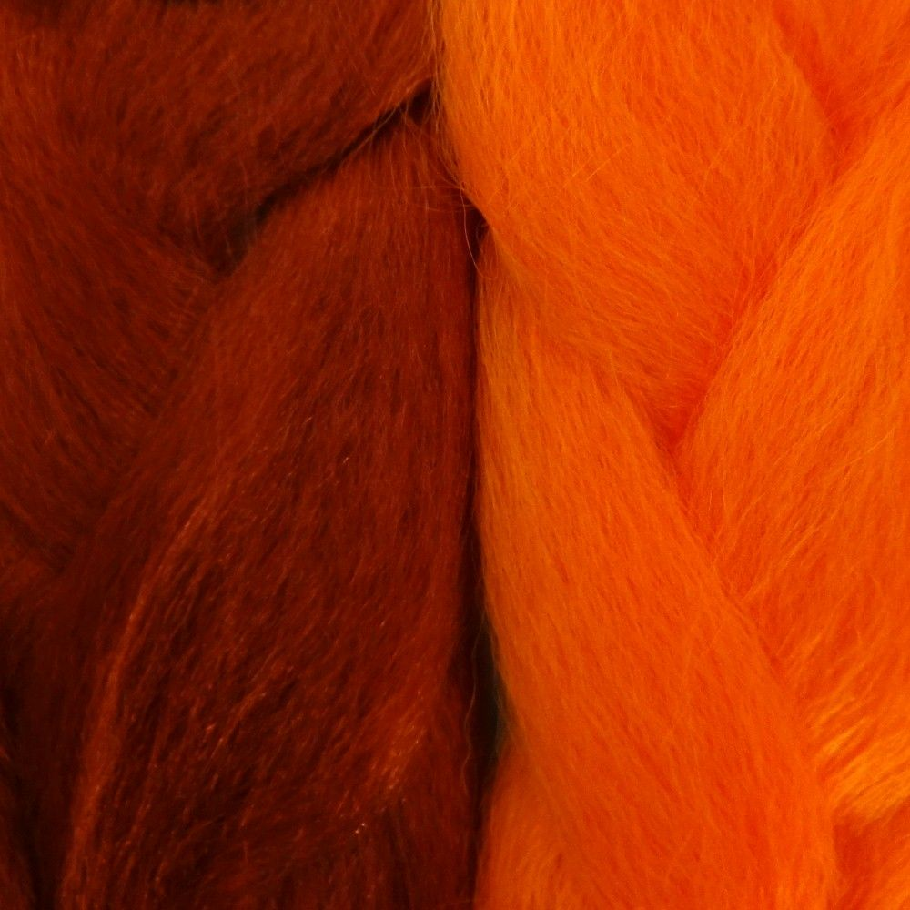 Kanekalon color comparison burnt orange on the left and orange on shop for kanekalon jumbo braid kk jumbo braid hair extensions in a wide variety of brands lines and colors nvjuhfo Image collections