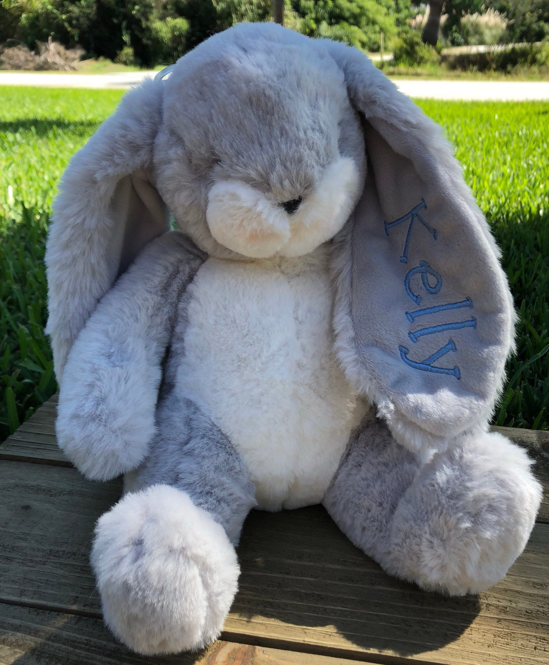 Personalized Bunny Stuffed Animal Easter Baby Shower Gift