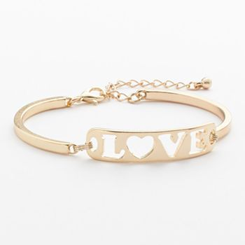 Kohls Jewelry Box Brilliant Candie's Cutout Love Bracelet #kohls #love #candies  Jewelry Review