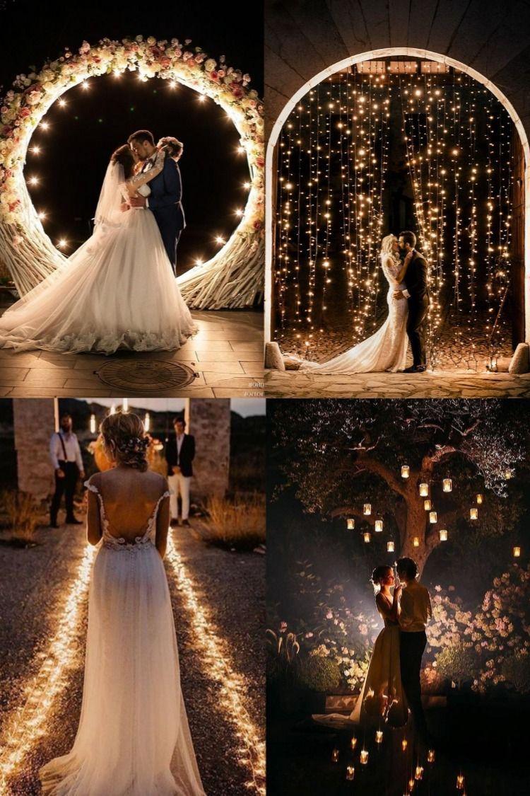 Dream Wedding In 2020 Night Wedding Photos Dream Wedding Dresses Wedding Lights