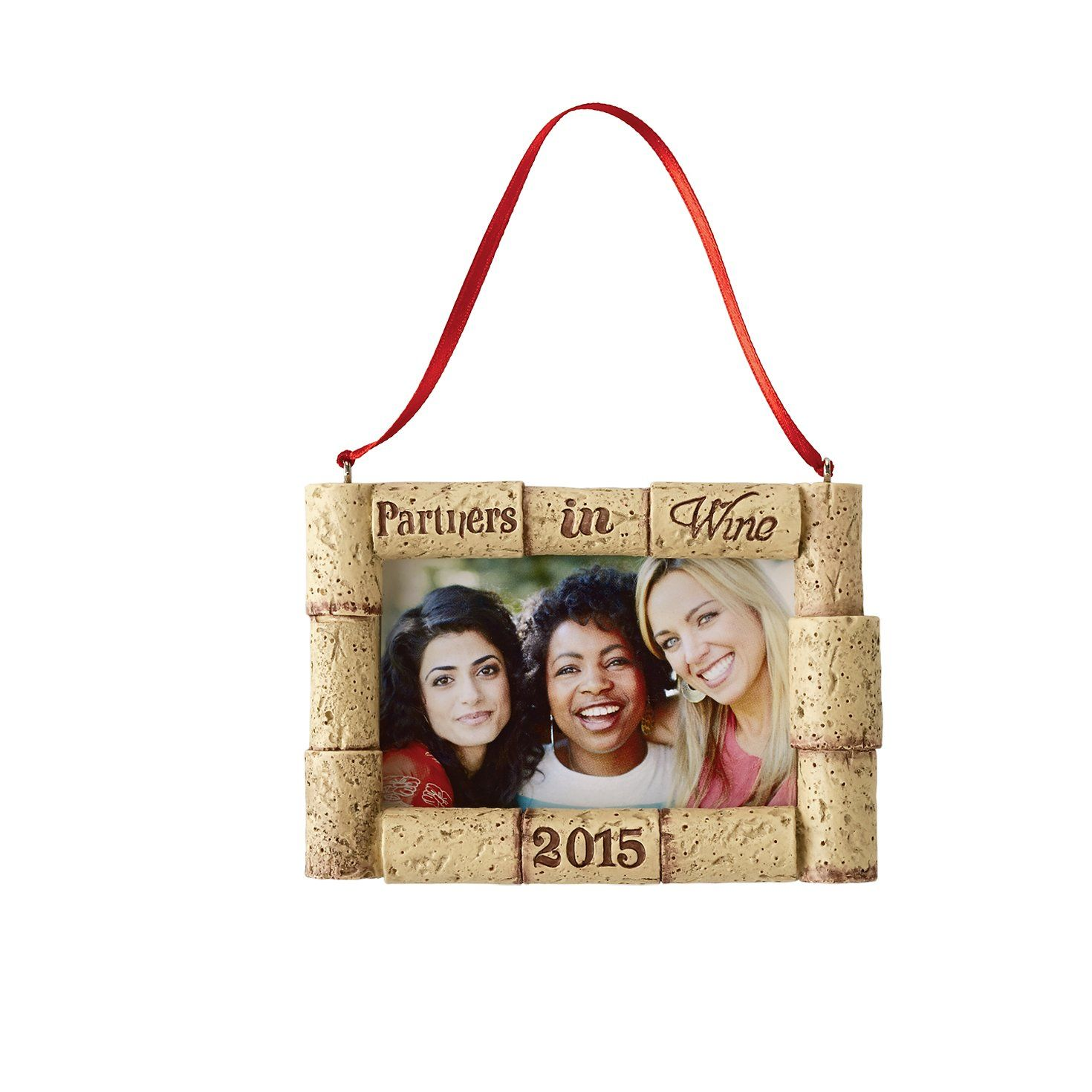 Hallmark Direct Imports 2015 Partners In Wine Photo Frame Ornament