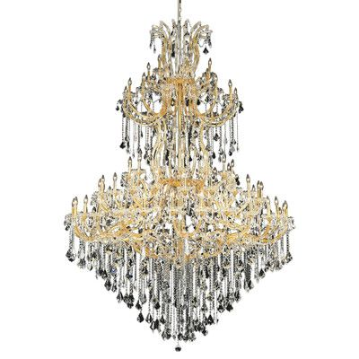 Maria Theresa 85 Light Crystal Chandelier Finish Crystal Color – Color Chandelier