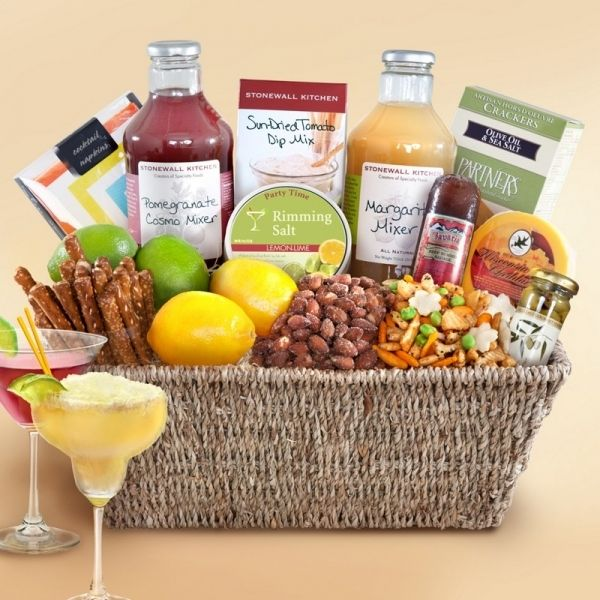 13 Gift Basket Ideas That Rock Cocktail Gift Basket Christmas Gift Baskets Gift Baskets