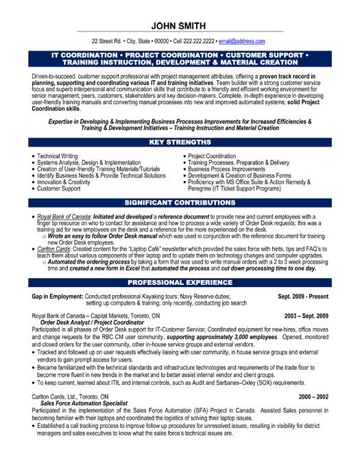 A professional resume template for a Project Coordinator Want it - It Project Administrator Sample Resume
